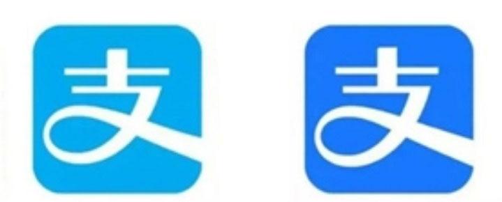 支付宝logo变色