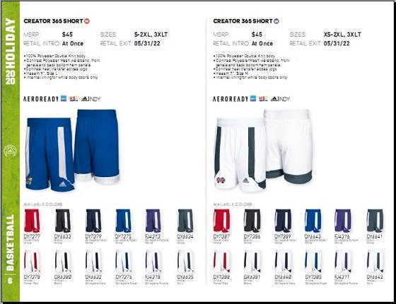 阿迪达斯篮球服装宣传册设计
